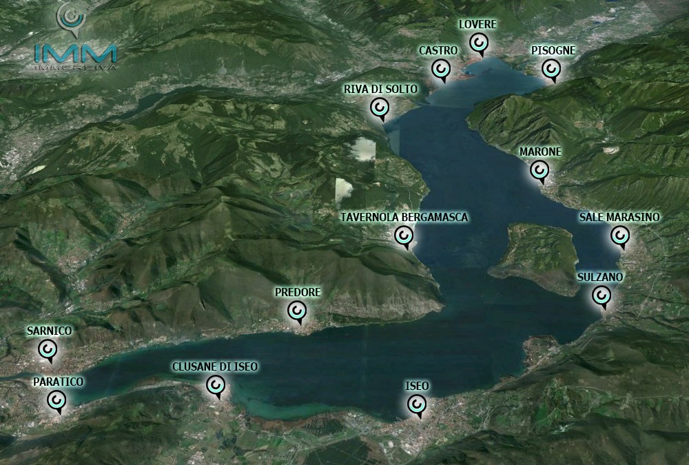 Lago d'Iseo immersivo.